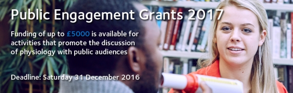 Public engagement grants to promote the discussion of physiology