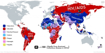 The planet's deadliest infectious diseases, by country