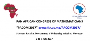 9th Pan African Congress of Mathematicians 2017 in Rabat Morocco